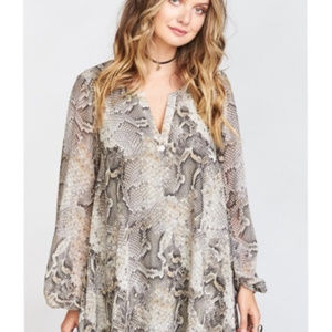 SHOW ME YOUR MUMU Donna Michelle Snake Tunic